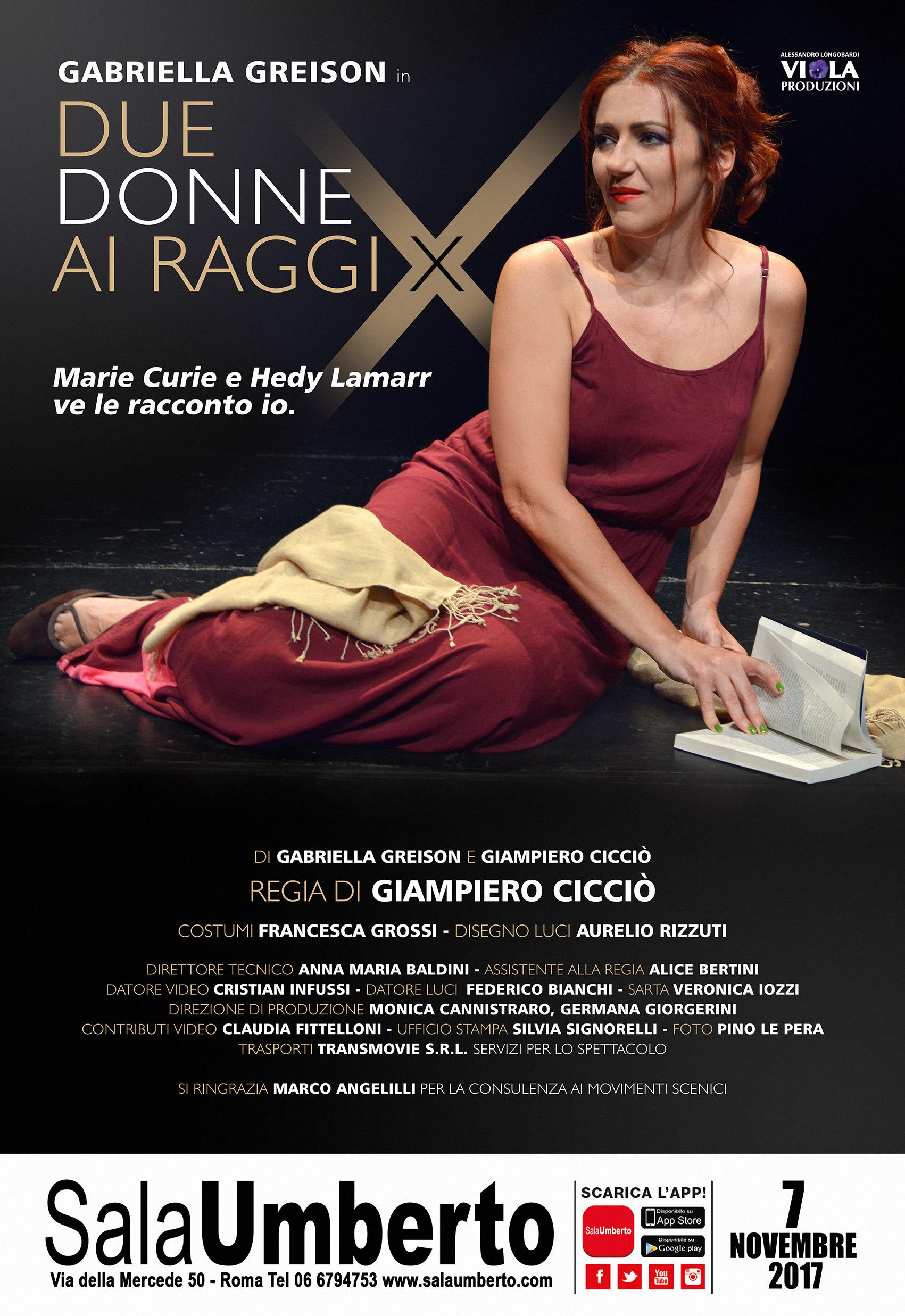 Vieni a vedere DUE DONNE AI RAGGI X al Teatro Sala Umberto di Roma