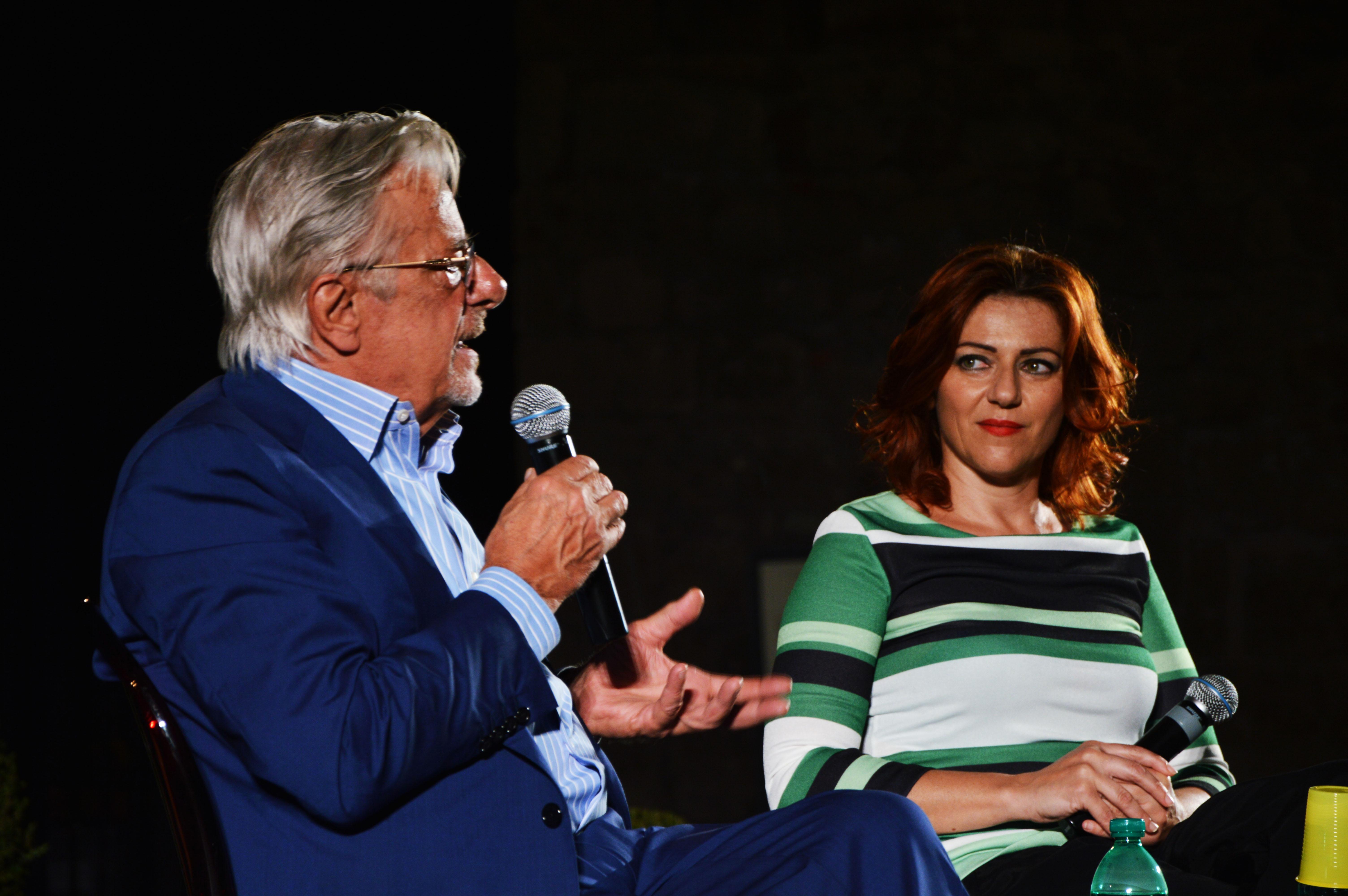 La serata con Giancarlo Giannini mentre presentiamo il libro scritto insieme!