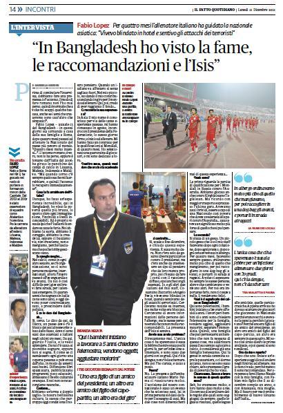 """""""Sono i burocrati il male dell'Italia"""" – La mia intervista al ct del Bangladesh, Fabio Lopez (che lascia la panchina)"""