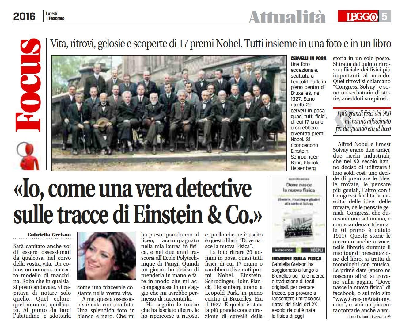 """""""io, come una vera detective, sulle tracce di Einstein & Co. a Bruxelles""""…così hanno titolato la pagina dedicata a me!"""