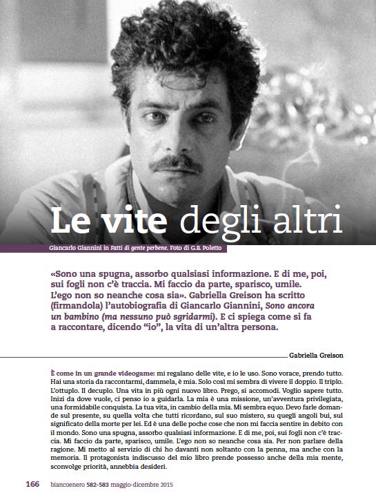 Il privilegio di aver lavorato con Giancarlo Giannini. Sulla rivista del CENTRO SPERIMENTALE di CINEMATOGRAFIA c'è il mio racconto…