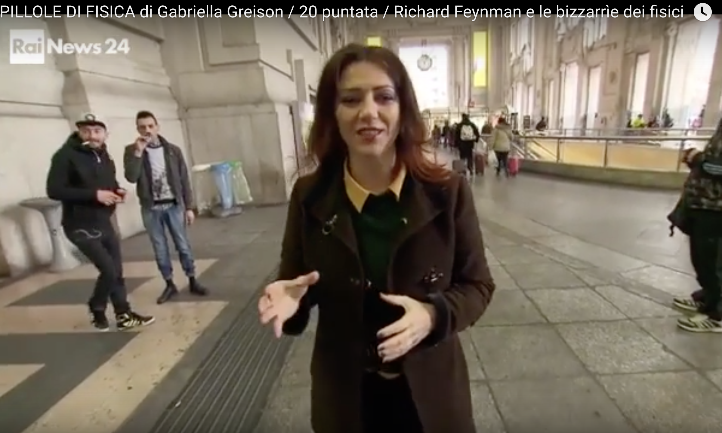 Penultima puntata delle mie PILLOLE DI FISICA in onda su RaiNews, parlo di Feynman!