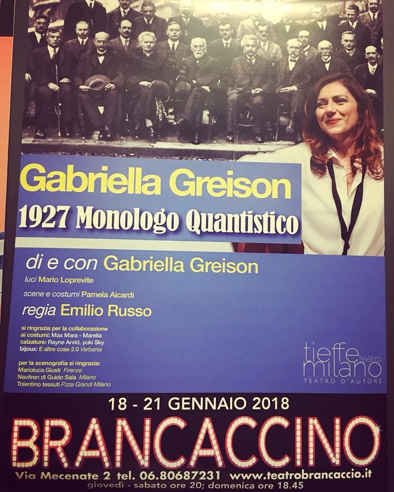 A Roma, una settimana in scena al Brancaccino con '1927 MONOLOGO QUANTISTICO'…il sold out, la gioia, gli applausi (e continuazione rassegna stampa…non finisce mai…wow!)
