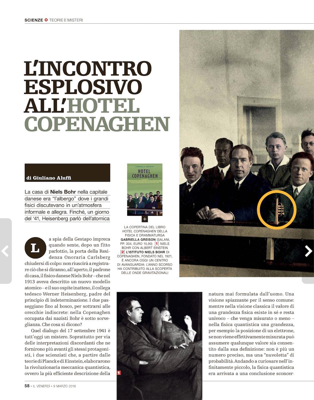 Anteprima del mio nuovo romanzo HOTEL COPENAGHEN oggi sul 'Venerdì di Repubblica' con tre pagine bellissime! E il libro esce giovedì…prenotatelo di già!