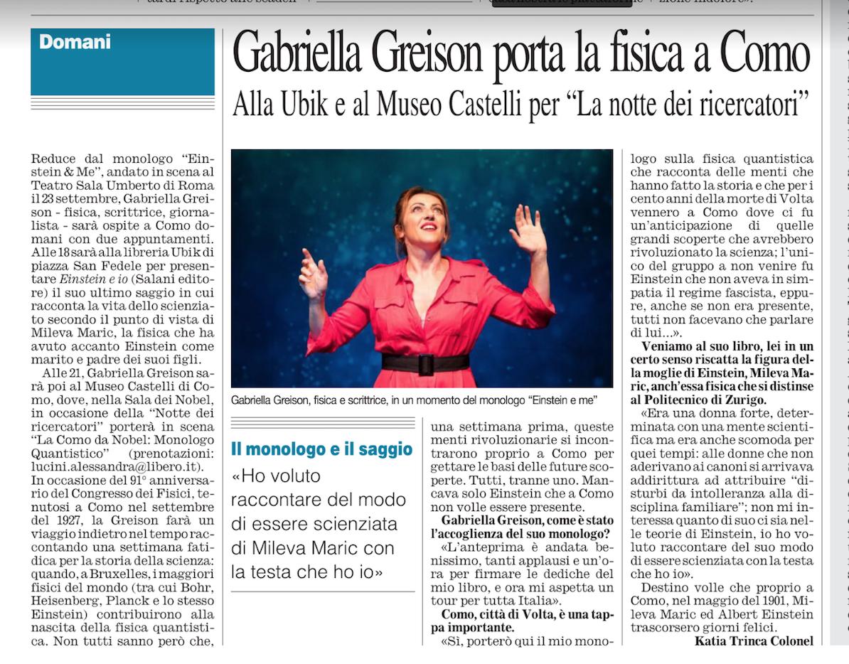Per la Notte Europea dei Ricercatori…Teatro Paisiello di Lecce strapieno! E anche a Como è andata alla grande…