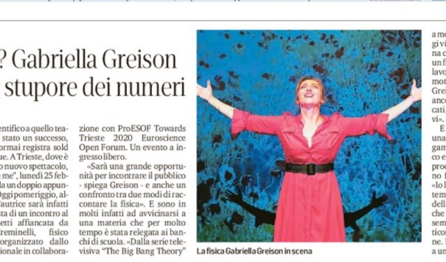 Sul Piccolo intervista di due pagine con me! E oggi sono al Café Rossetti di Trieste ore 17.30 …e poi l'appuntamento al Teatro Rossetti il 25!