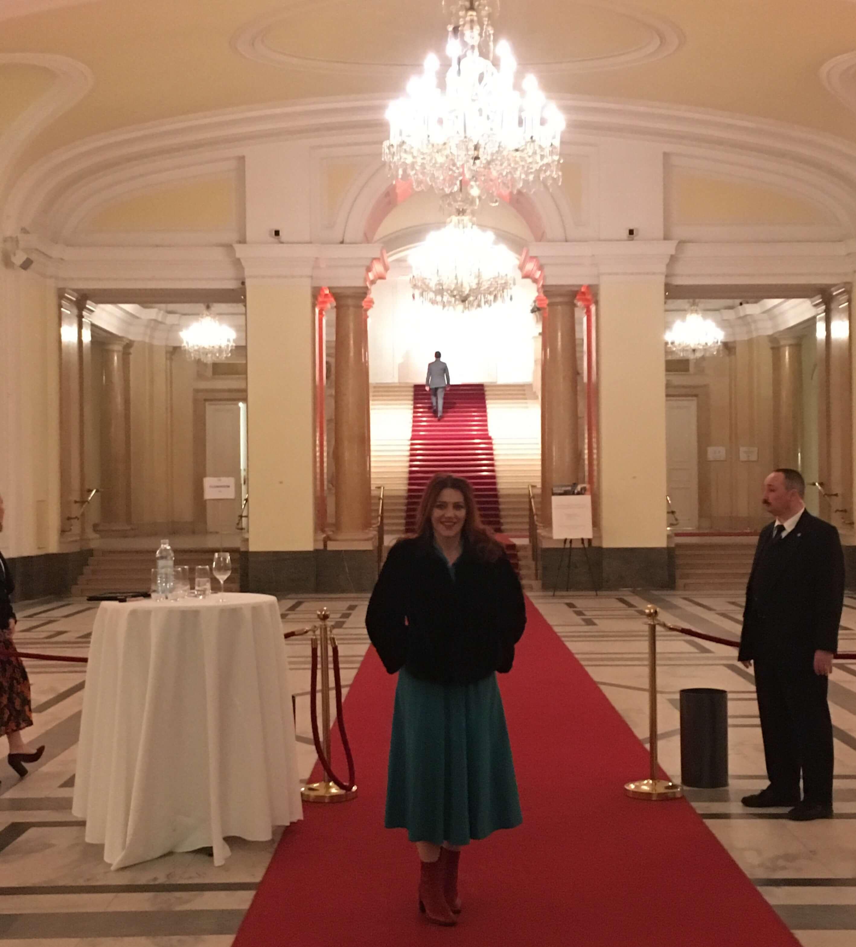 La serata con il mio monologo su Hedy Lamarr a Vienna, proprio dove è nata…tutto magnifico!