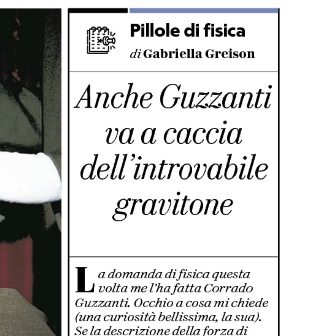 Oggi su Repubblica nuova puntata delle mie PILLOLE DI FISICA…rispondo a una domanda di Corrado Guzzanti!