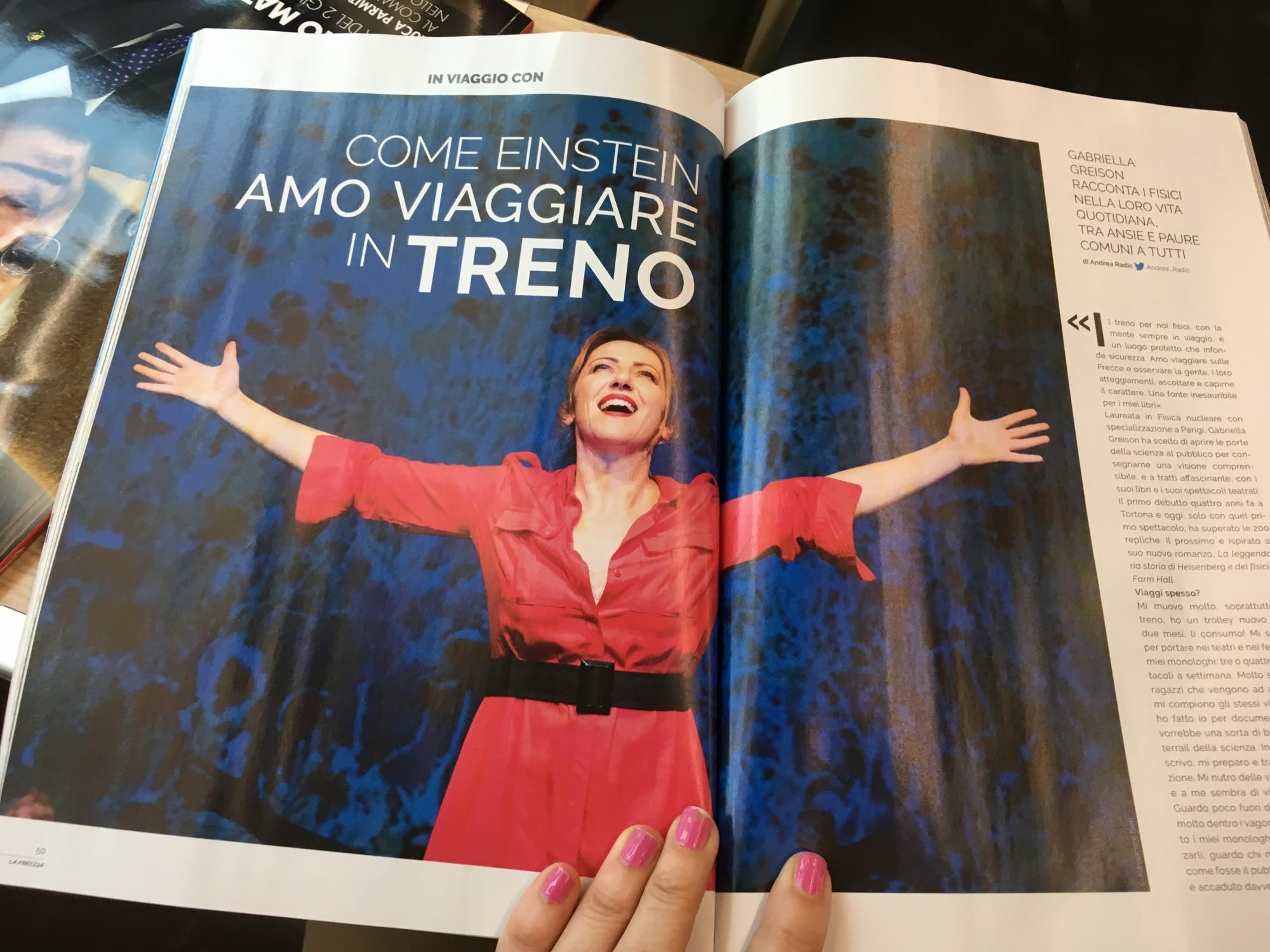 Mi hanno intervistato sul Frecciarossa, tre pagine sulla rivista Le Frecce di giugno!