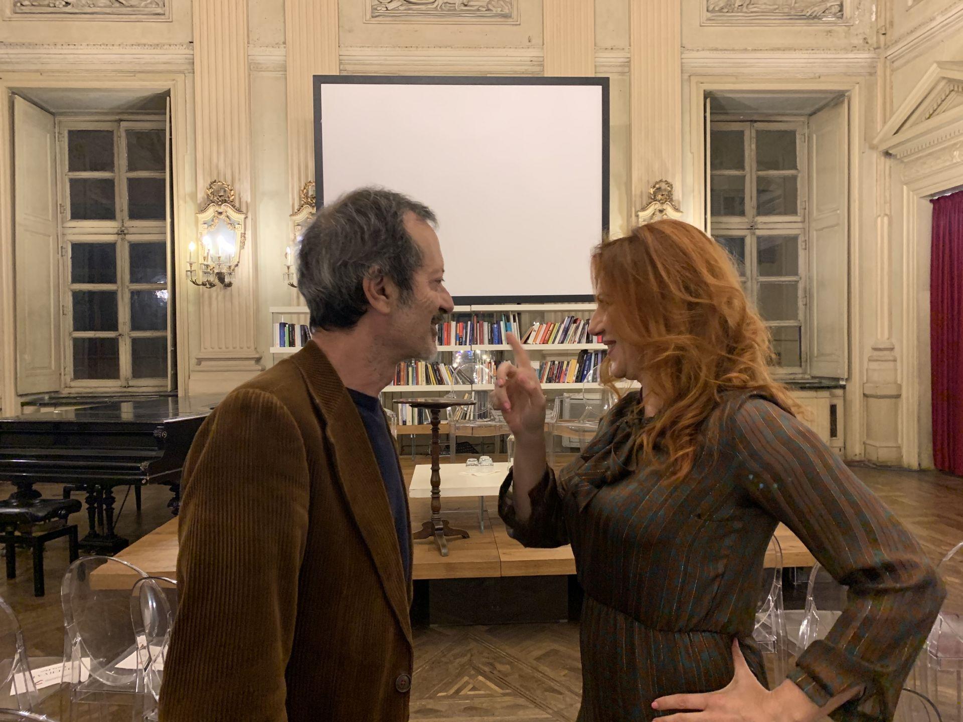Ieri al Circolo dei Lettori di Torino per la prima presentazione di EINSTEIN FOREVER, con me Rocco Papaleo, una serata memorabile…