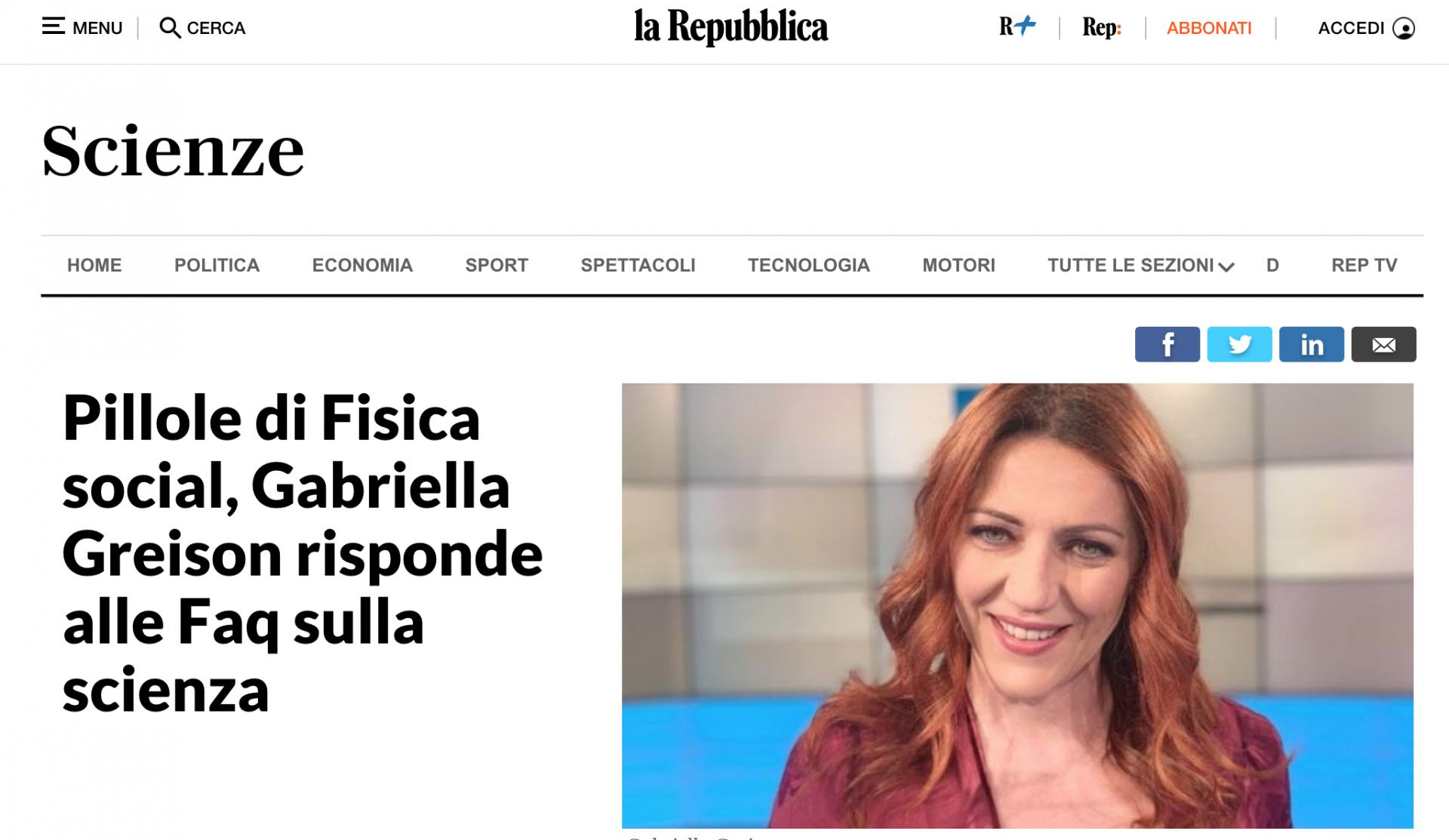Mi ha intervistato Repubblica sulla mia rubrica #ChiediAllaFisica che ho creato nel web…rispondo a tutte le domande di fisica che avete!