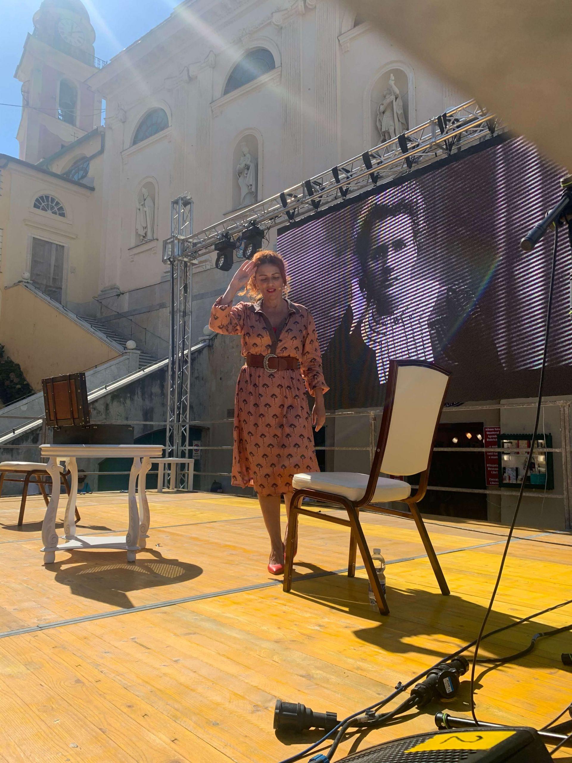 """Ho portato il monologo """"Cara Marie Curie…"""" al Festival di Camogli, è stato bello! Ci vediamo domenica a Milano!"""
