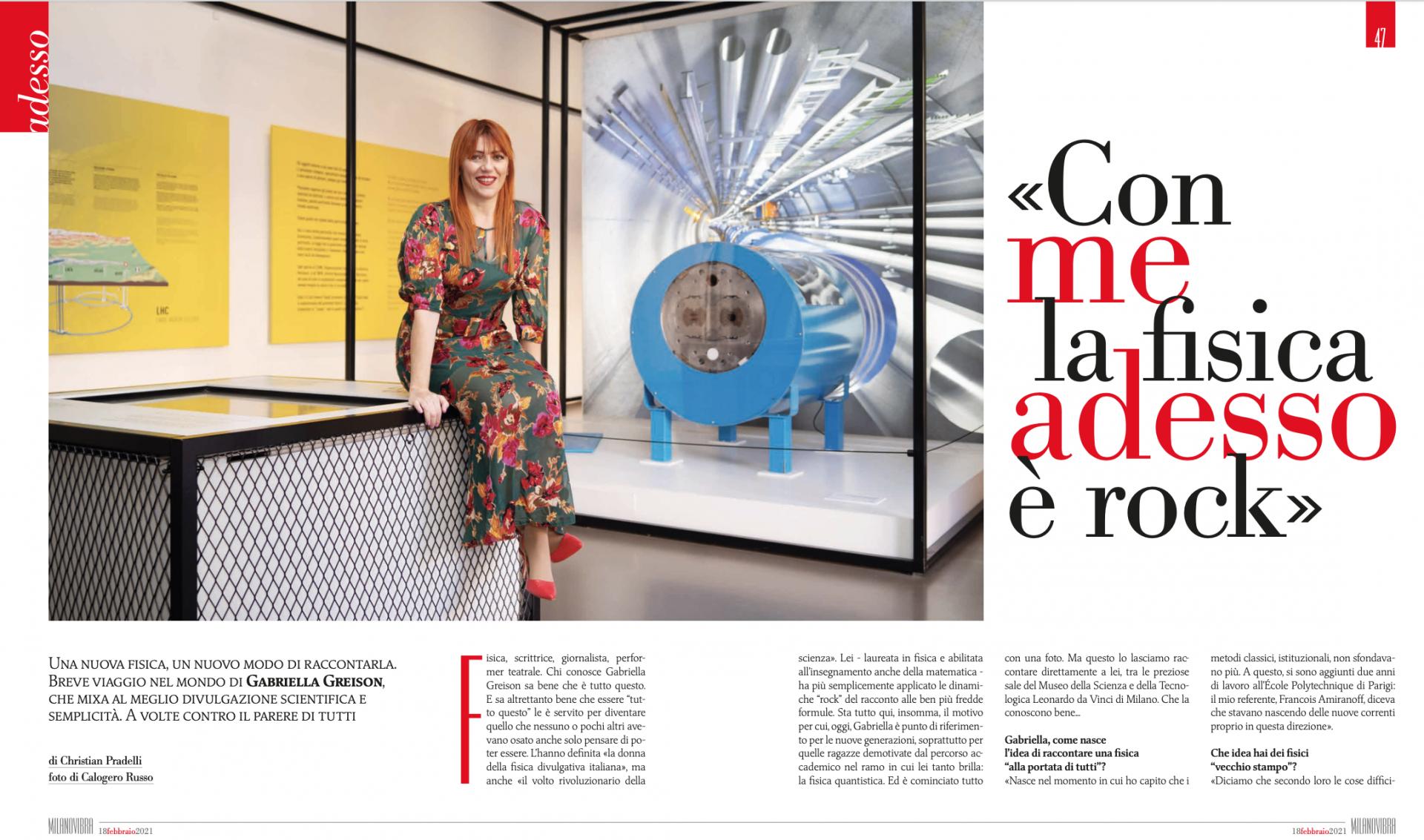 Nuova intervista! Cinque pagine bellissime su Milano Vibra in edicola da oggi…