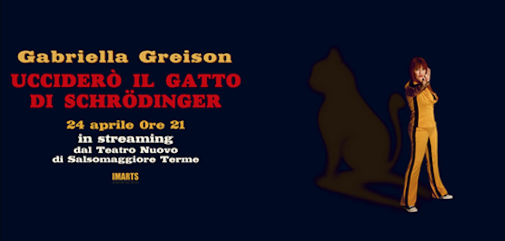 """Ecco il link per prenotare il posto per il debutto online del mio nuovo spettacolo """"Ucciderò il gatto di Schrödinger""""!"""