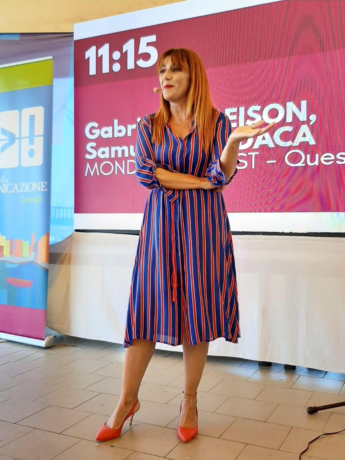 E' stato bello fare monologo a Camogli, al Festival della Comunicazione…