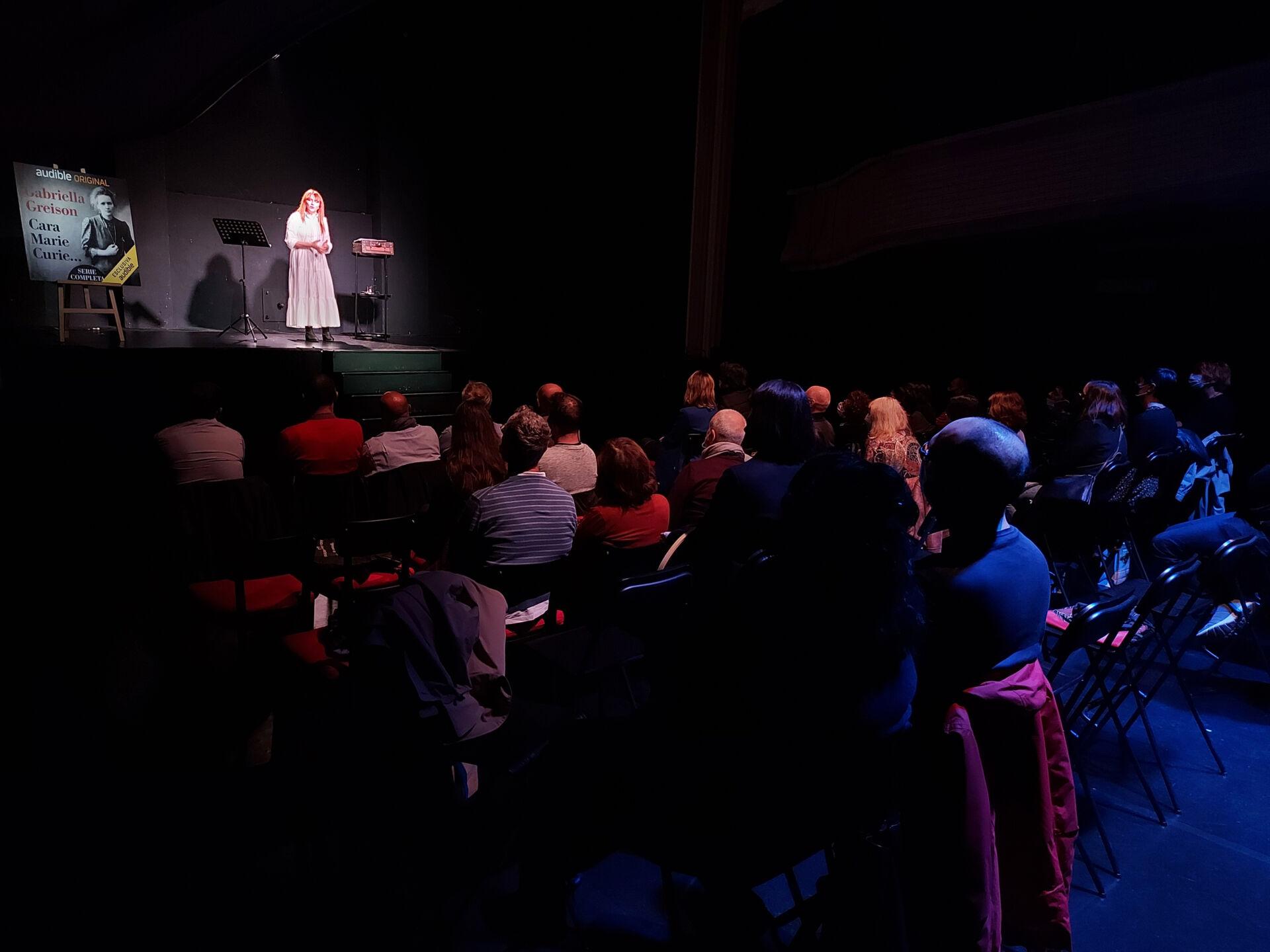 Che bello è stato fare il mio monologo su Marie Curie in questo teatro di Torino…